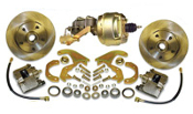 58-70 Chevrolet Impala Front Disc Brake Kit w/Booster Combo